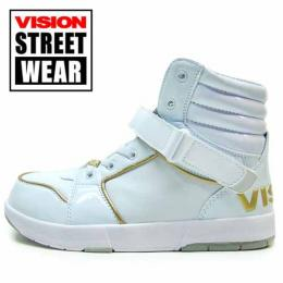 VISIONハイカットシューズWHITH/GOLD